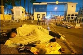 Photos Of Protesters Sleeping At Lekki Tollgate As They Fight For Better Policing In Nigeria
