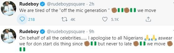 Paul Okoye Apologizes To Youths, Says Celebrities Should Have Started #EndSARS Protest Long Time Ago