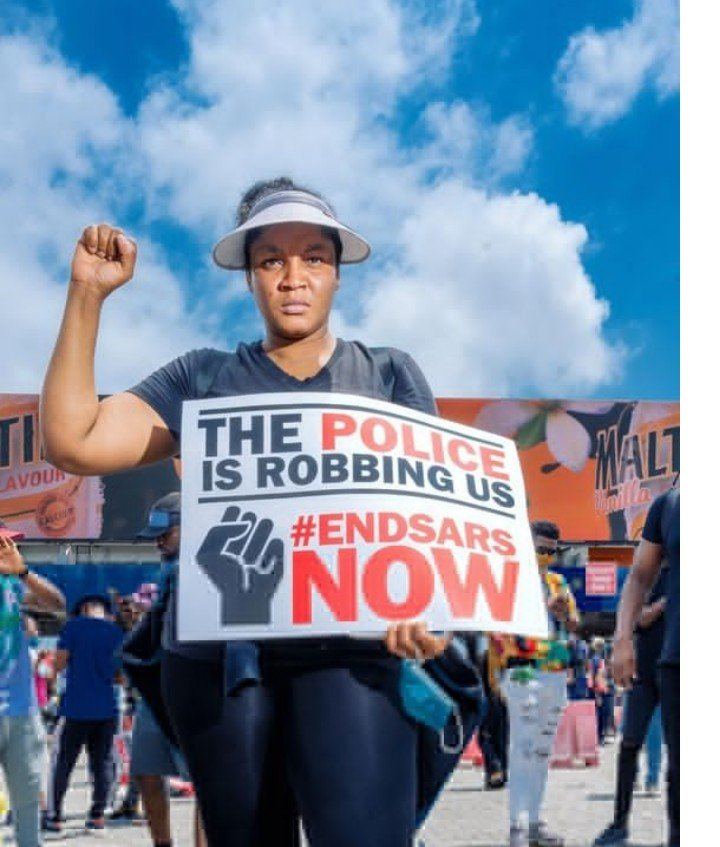 Omotola Jalade-Ekeinde And Her Family Join #EndSARS Protest (Photos)