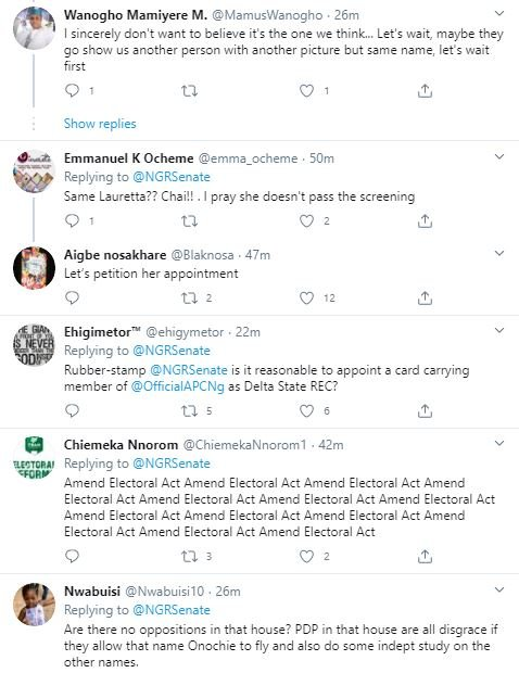 'Useless Government' – Nigerians Blast FG for Appointing Lauretta Onochie as INEC Commissioner