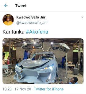 Kantanka Automobile models latest car after 18-year-old JHS car manufacturer's design