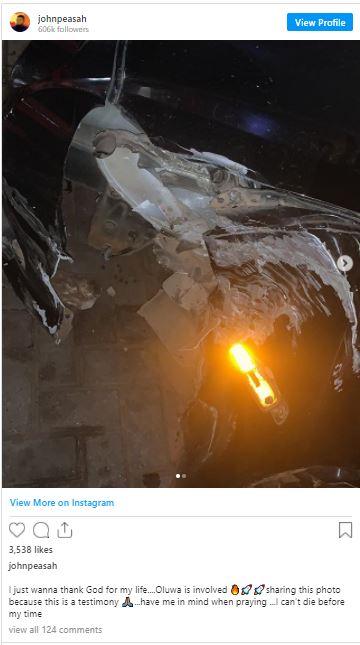 YOLO Star, Drogba narrowly escape  a fatal accident – Photo