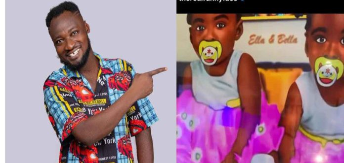 Funny Face took off the pictures of his twin daughters from his wall