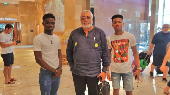 Photos of  late JJ Rawlings with some popular celebrities