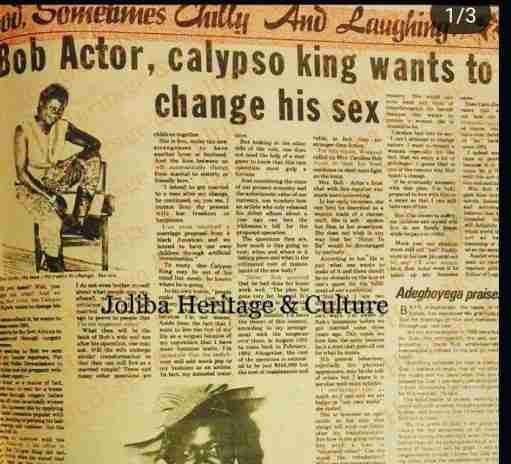 BOBRISKY Na Learner – Meet Calypso King, First Nigerian Man Who Wanted To Become a Woman and Change His Genitals in the 80s