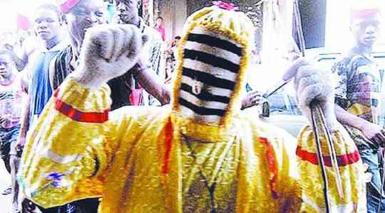 Meet OLOOLU, Father Of All Masquerades In Ibadan