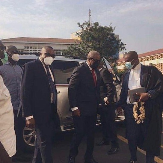 Mahama and his lawyers arrive in court; request for Live Telecast of court hearing (Photos)