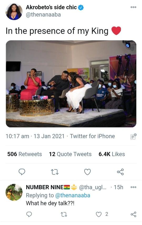 In the presence of my King- Nana Aba Anamoah praises Sarkodie