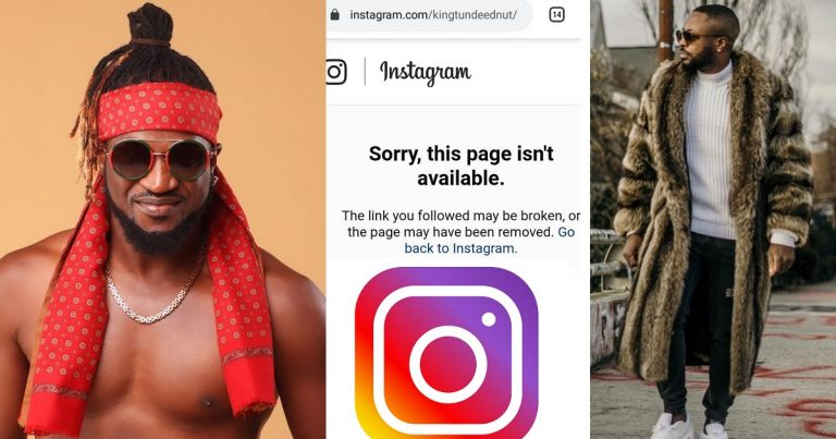 """Village people dey follow Tunde"" – Rudeboy reacts after Tunde Ednut's new Instagram page was deleted"