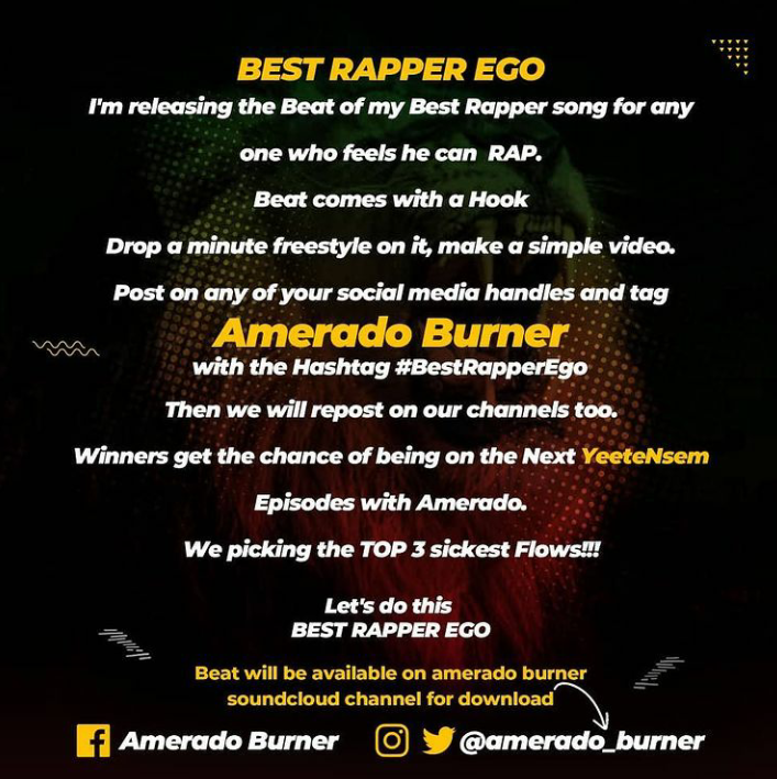 Download Instrumental: Amerado – Best Rapper Ego