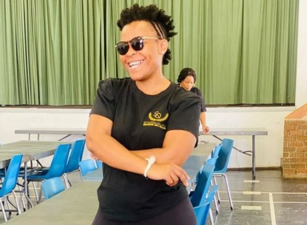 Zodwa Wabantu prints circular for her new chicken and egg business