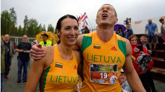 OKURRRR! Would You Contest For This Wife Carrying Sport To Win A World Championship?
