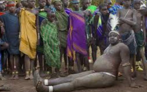 WEIRD CULTURE: Bizarre Annual 'Fattest Man' Competition Of Bodi Tribe In Ethiopia