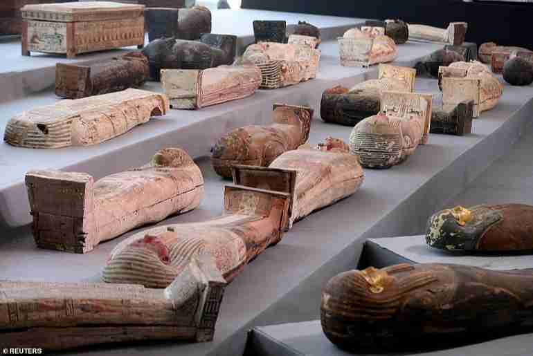 SHOCKING: See How Nearly 100 Coffins Buried Over 2,500 Years Ago Was Discovered In This Country