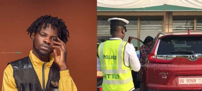Fameye arrested by Police over his car's number plate