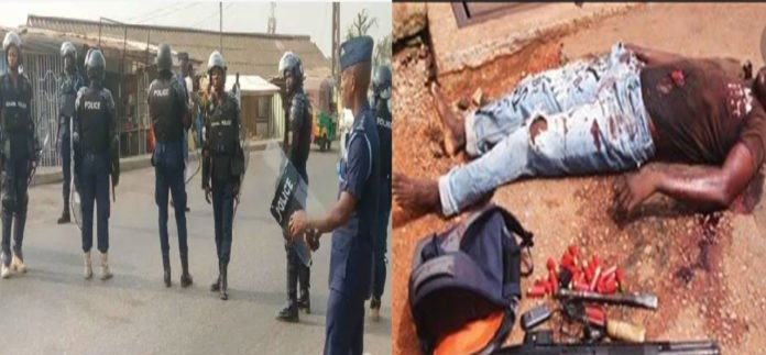 KANESHIE: Two armed robbers shot to death in a daylight shootout with the Police