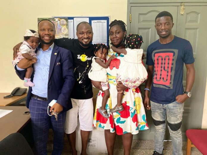 Funny Face makes up  with his baby mama, Ama Vanessa