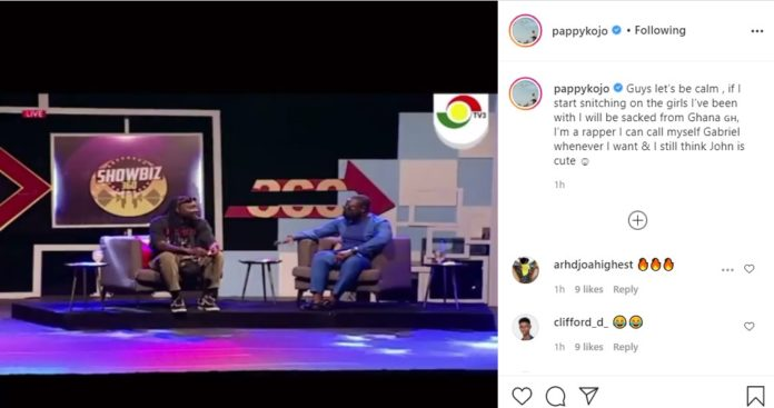 Pappy Kojo disregards his statement about being gay