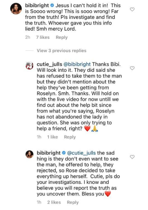 Roselyn Ngissah introduced Ghanaian lady who ran mad to Nigerian millionaire- Bibi Bright alleges