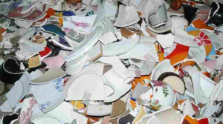 See German Marriage Tradition Which Guests Break Porcelain On The Night Before The Wedding