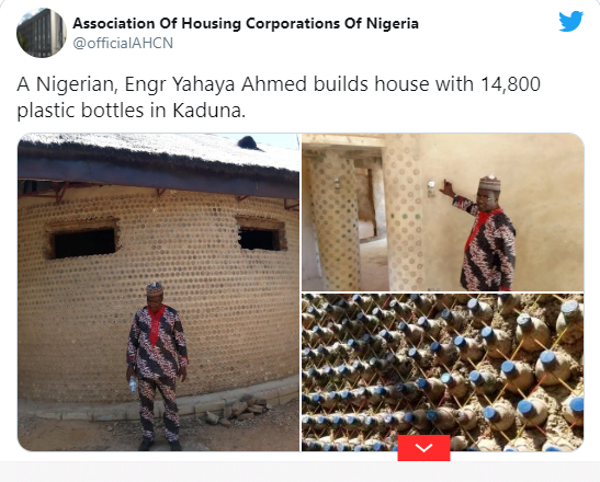 Man build house with 14,800 bottles, says it is 20 times stronger than bricks