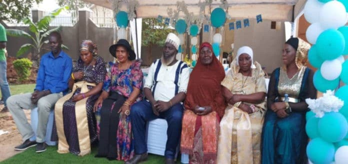 Wives surprise husband on his birthday and also to mark 30 years of peaceful coexistence
