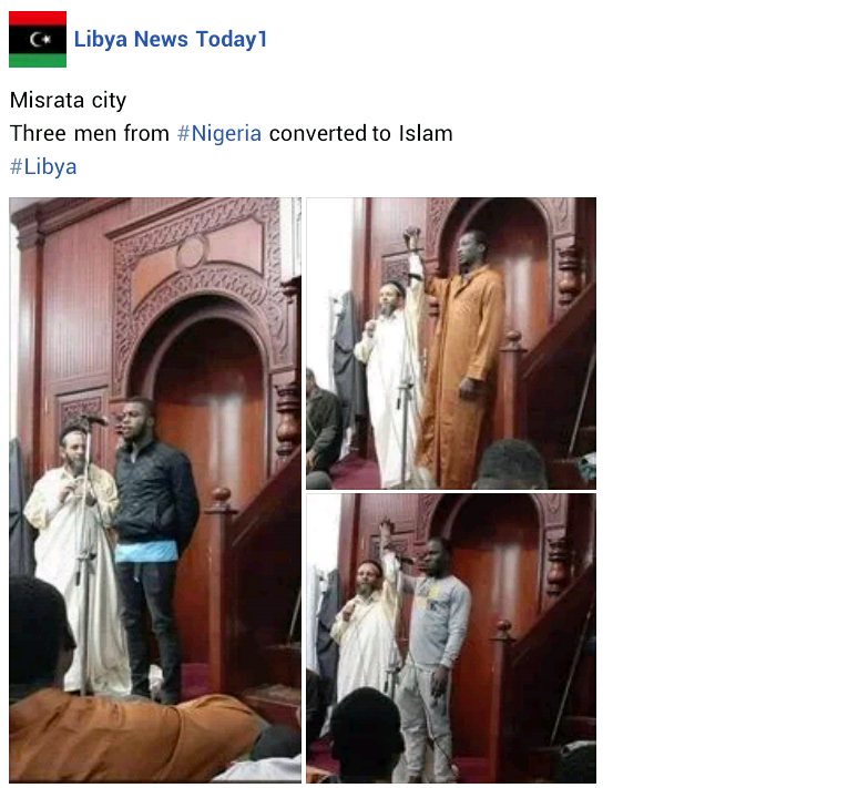Mixed reactions as more Nigerians convert to Islam in Libya
