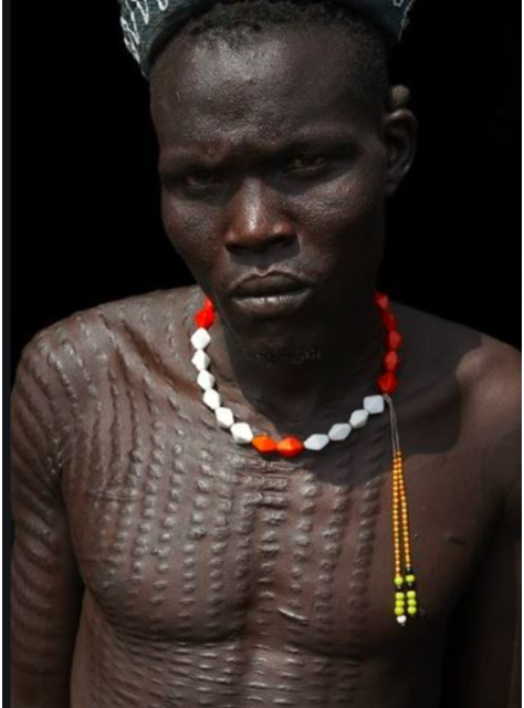 OMG! See The Tribe That Deliberately Scar Their Skin For Culture Sake- So Weird!