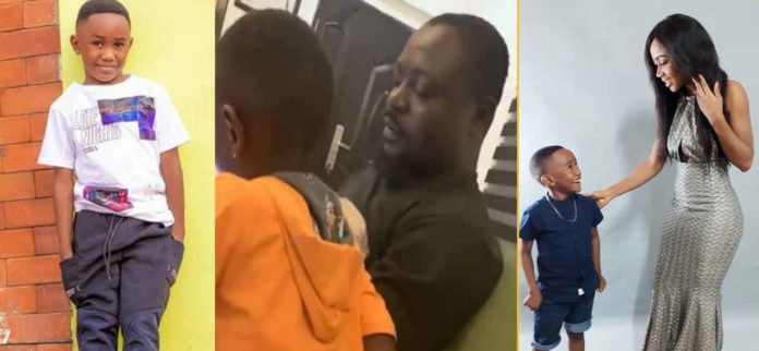 Video of Akuapem Poloo's baby daddy having fun with his son