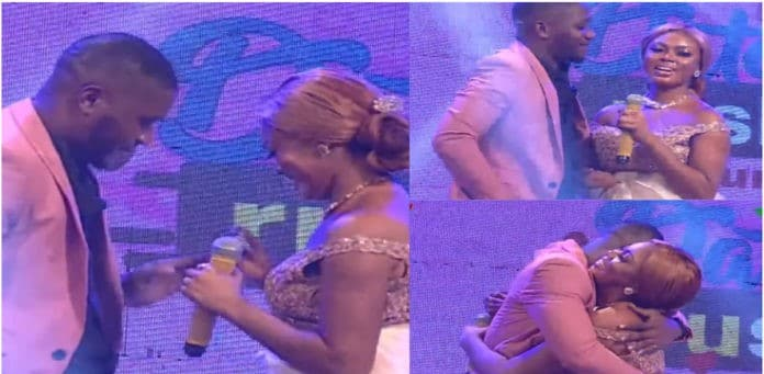 Grace, one of the contestant of Date Rush proposes to Gyato durung their reunion