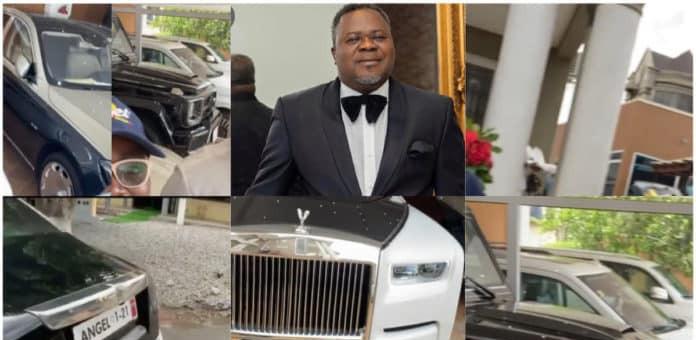 Check out Dr Kwaku Oteng's mansion & expensive Cars in Kumasi