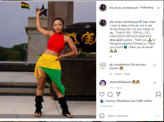 Ghana celebs react to news of Akuapem Poloo's bail