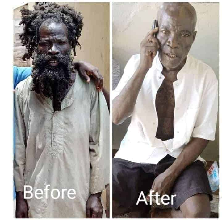 Ghana celebrity madman 'Mona Mo bl3' shaves off his dread; looks better in new photo