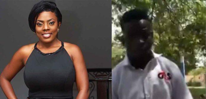 Nana Aba Anamoah  to assist a security man