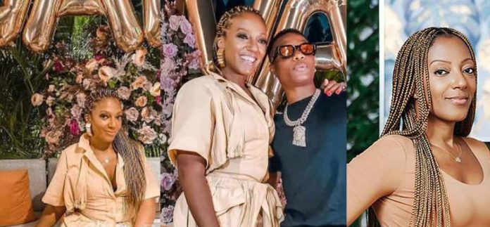 Akufo-Addo's daughter, Valerie Obaze and Wizkid seeen hanging out