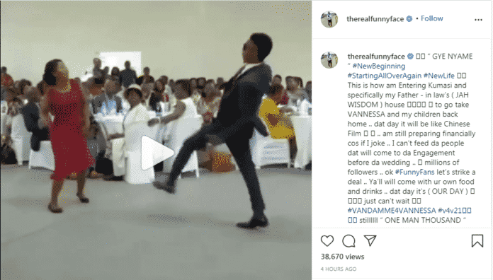 Funnyface release standards for attendees for his upcoming marriage ceremony