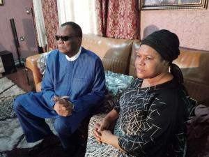 Prophet Abiara visits TB Joshua's wife (Photos)