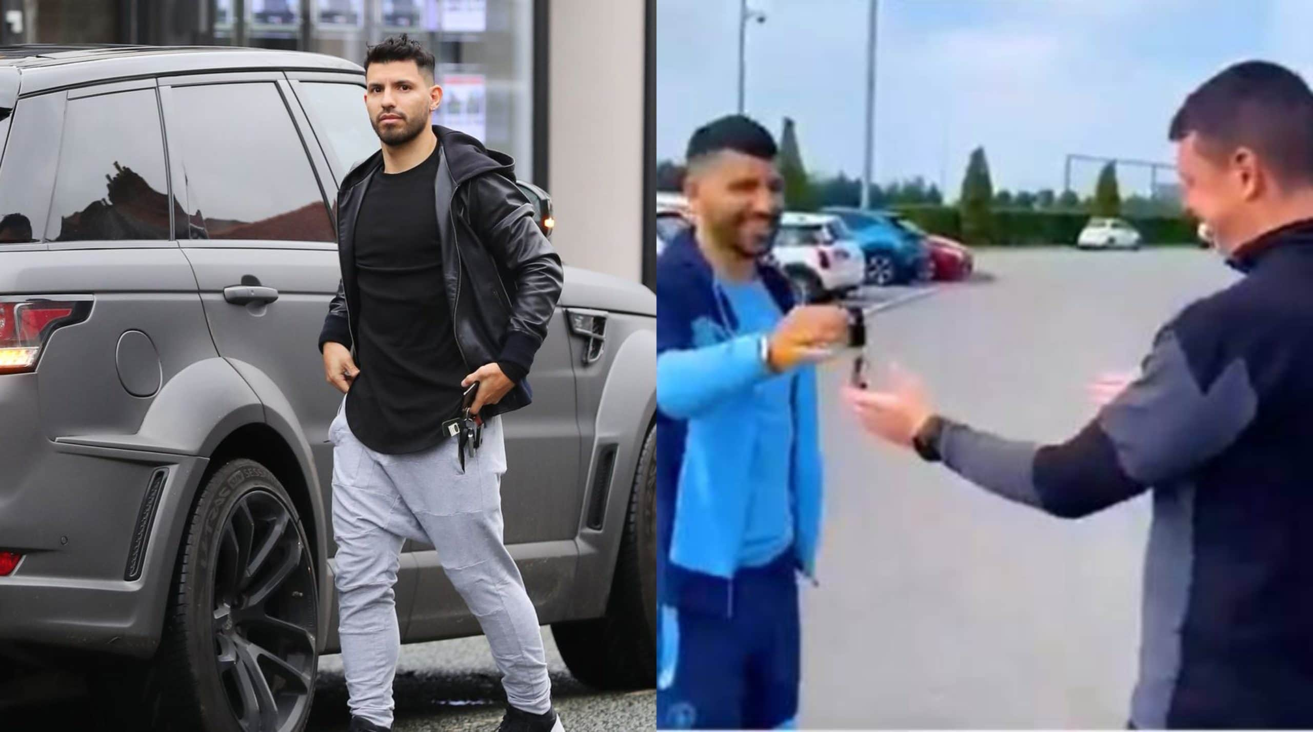 Aguero gifts Man City kitman a Range Rover in emotional video