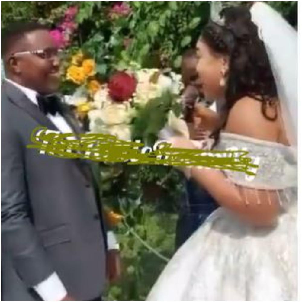 VIDEO: Don't let me regret this marriage – Nigerian bride warns groom